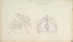 Wood carvings in the palace apartments, Shimoga. September 1805